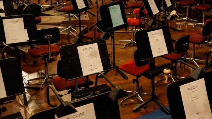 Concierto en el gran teatro del Liceu en Barcelona de la ópera Tosca de Puccini
