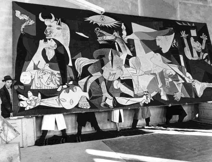El Guernika de Pablo Picasso. Exposición Picasso. El viaje del Guernica. Donostia / San Sebastián