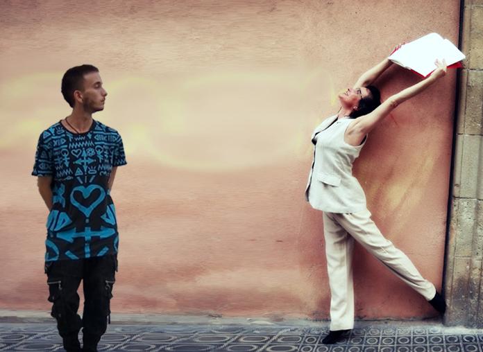 """""""Un llibre per escriure"""", Silvia e Imanol"""