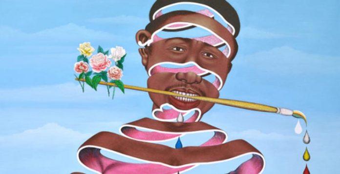 Chéri Samba nació en 1956 en Kinto M'Vuila (República Democrática del Congo), como el hijo mayor de una familia de diez hijos.