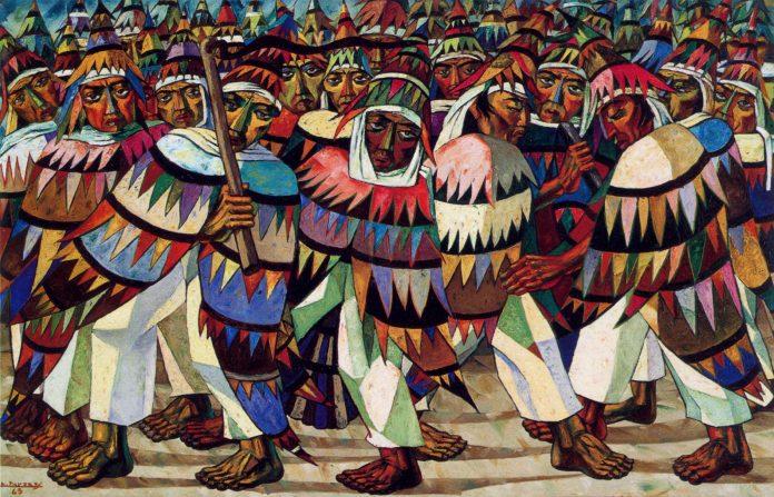 """Conocido como """"El pintor de los aborígenes"""", Paredes nació en Tulcán en el año 1910. Entendía el arte como una expresión de las masas y luchó para que esto fuera realidad."""