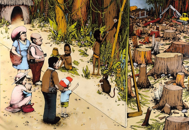 Dran artista callejero, conocido como el Banksy francés