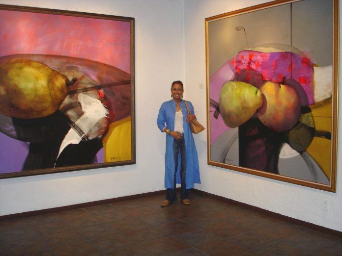 Olga Sinclair es una artista plástica panameña