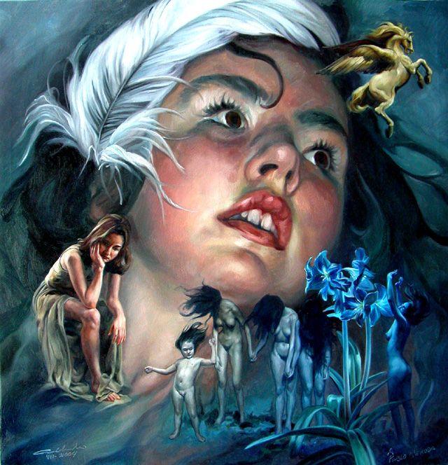 Manolo Gallardo pintor nacido en Guatemala