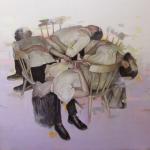 Johan Barrios, artista nacido en Colombia en 1982, se graduó de la Universidad de Antioquia en Medellín. Su primera venta fue a la directora del colegio donde estudiaba secundaria, le compró tres dibujos. Barrios está fascinado por la forma en que la luz interactúa con las cosas.
