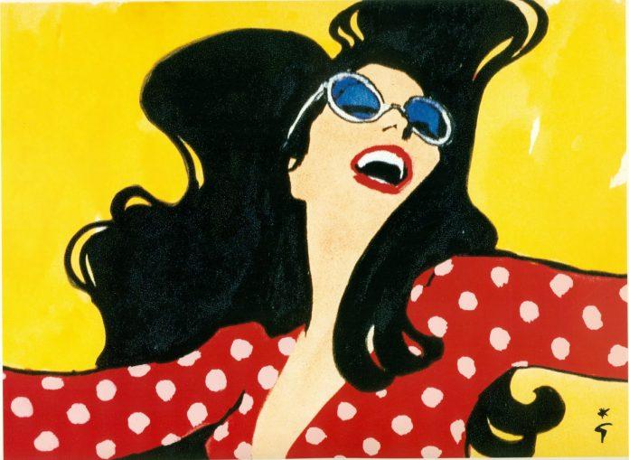 René Gruau Su estilo y enfoque único, con su uso característico de su poderosa línea minimalista, el estilo de Gruau combinaba la sofisticación seductora con la belleza clásica, la gracia y la elegancia sensual.Sus carteles a menudohacían eco tanto de dibujos japoneses clásicos como de los bocetos de la vida nocturna de París de Toulouse-Lautrec.