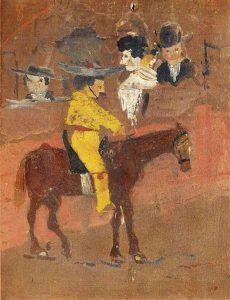 El Picador, data de 1890, cuando el autor tenía solo 9 años, es probablemente la pintura más antigua que se haya conservado de Pablo Picasso