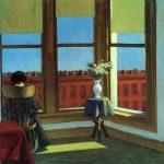 Edward Hopper , (1882, Nyack , Nueva York - 1967 Nueva York, Estados Unidos), pintor estadounidense cuyas representaciones realistas de escenas urbanas cotidianas sorprenden al espectador al reconocer la extrañeza de un entorno familiar. Influyó fuertemente en el pop arty en los nuevos pintores realistas de los años sesenta y setenta.
