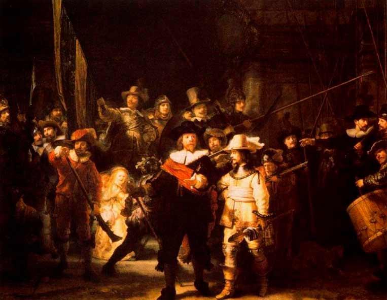 La ronda de noche o La ronda nocturna es el nombre por el que se conoce comúnmente una de las más famosas obras maestras del pintor neerlandés Rembrandt, pintada entre 1640 y 1642.