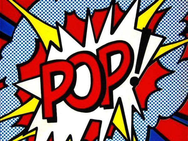 Pop art, arte en el que los objetos comunes (comohistorietas, latas de sopa, señales de tráfico yhamburguesas ) se utilizaron como tema y a menudo se incorporaron físicamente.