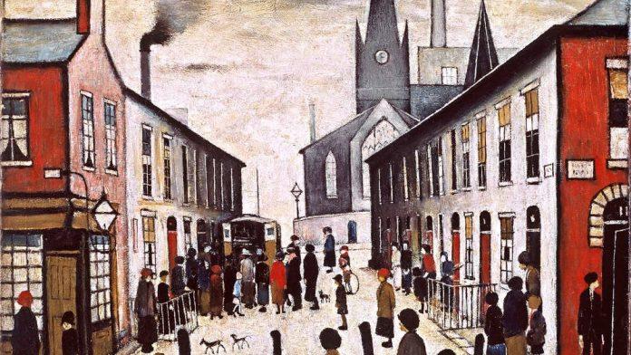 Nacido en Manchester en 1887, Laurence Stephen Lowry fue el único hijo de Robert y Elizabeth Lowry.Comenzó a dibujar a los ocho años; y en 1903, comenzó clases privadas de pintura que marcaron el comienzo de una educación a tiempo parcial en arte que continuaría durante veinte años. En 1904, a los 16 años, Lowry dejó la escuela y consiguió un trabajo como empleado en una firma de contadores públicos, permaneció en el empleo a tiempo completo hasta su jubilación a la edad de 65 años.