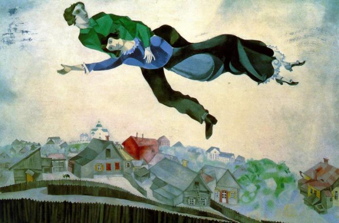 Marc Chagall nació el 7 de julio de 1887 en Vitebsk, Rusia. De 1907 a 1910 estudió en San Petersburgo, en la Sociedad Imperial para la Protección de las Artes, y más tarde con Léon Bakst. En 1910 se trasladó a París, donde se asoció con Guillaume Apollinaire y Robert Delaunay y se encontró con el fauvismo y el cubismo. Participó en el Salón de los Independientes y en el Salón de Otoño en 1912. Su primera exposición individual tuvo lugar en 1914 en la galería Der Sturm de Berlín.