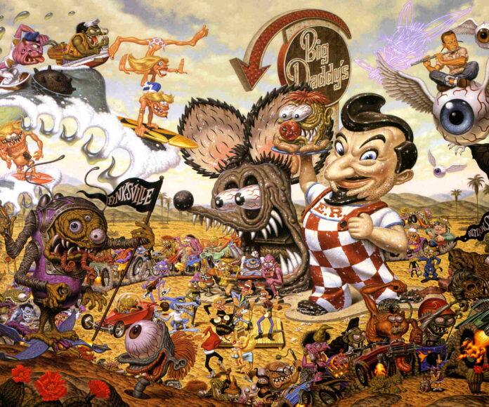 """Lowbrow surgió en Los Ángeles, California (Estados Unidos), a finales de los años 60 y 70. Fue un movimiento de arte visual underground. Al principio, la mayoría de los artistas eran caricaturistas underground, como Robert Williams y Gary Panter. Algunos creen que el movimiento tiene sus raíces a finales de los 50 cuando Ed """"Big Daddy"""" Roth creó Rat Fink, en el sur de California. Durante la década de 1960, Lowbrow floreció en el underground comix. Los artistas más distintivos fueron Robert Crumb, Victor Moscoso, Steve Clay Wilson, y el pilar del movimiento, Robert Williams."""
